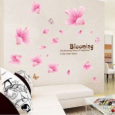 We love it and we know you also love it as well [Fundecor] diy home decor pink lily romantic plant wall sticker flower murals pvc papel de parede infantil de menina just only $4.24 with free shipping worldwide  #wallstickers Plese click on picture to see our special price for you
