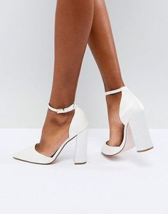 Discover a range of high heels with ASOS. Fromt black heels to bright silver, browse our range of classic peep toes, pumps or strappy sandals from ASOS. Wedding Shoes Bride, Wedding Boots, Wedding Shoes Heels, Bride Shoes, Prom Shoes, Bridal Heels, Women's Shoes, Asos Bridal Shoes, Court Shoes