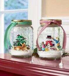Diy snowy mason jars 02 ~ Popular Living Room Design