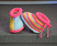 layette chaussons taille 0/3 mois neufs tricotés main : Mode Bébé par com3pom