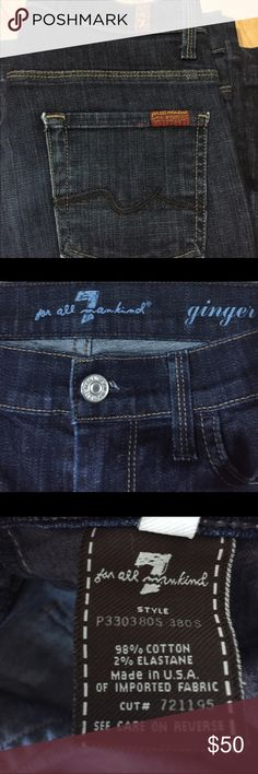 7 for All Mankind Jeans Dark denim jeans excellent condition no stains or flaws 7 For All Mankind Jeans