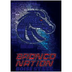 Boise State Broncos Bronco Nation Football Poster - $11.99