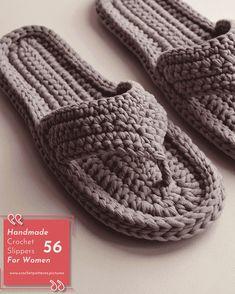 crochet slippers designs with modern patterns for women strickmuster damen strickjacke damesvest jacke stricken jackestricken Crochet Slipper Pattern, Crochet Baby Shoes, Knitted Slippers, Crochet Slippers, Crochet Patterns, Crochet Designs, Stitch Patterns, Knitting Patterns, Crochet Stitches