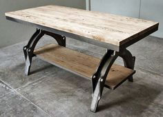 Rustic industrial table made in colaboration with #OFK