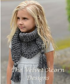 Knitting PATTERN-The Galloway Scarf Small Medium par Thevelvetacorn