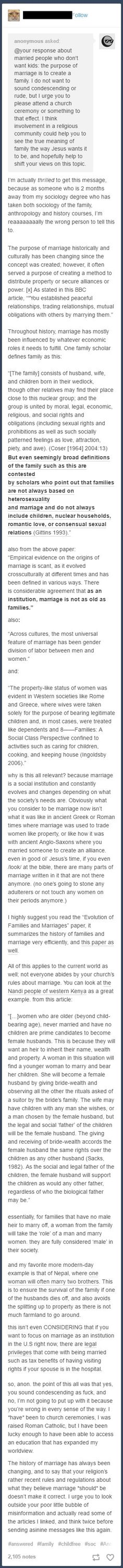 Sociological/Historical perspective of marriages and family.