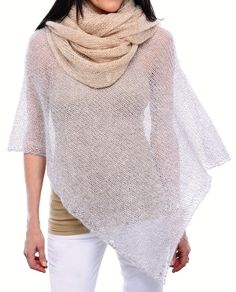 Free Knitting Pattern for Grace and Style Poncho