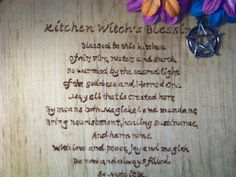 Kitchen Witch Blessing Plaque