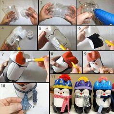 How to make plastic bottle penguins