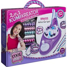 Cool Maker KumiKreator Bracelets and Necklaces Kit Craft Kits For Kids, Crafts For Kids, Cool Maker, Jewelry Making Kits, Stationery Craft, Booklet Design, All Toys, Christmas Gift Guide, Gaming