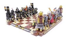 Lego Model : Steampunk LEGO chess set makes all the right moves Lego 4, Cool Lego, Lego Chess, Steampunk Lego, Lego Models, Lego Projects, The Brethren, Lego Instructions, Make All