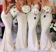 Sweetheart Bridesmaid Dress,Long Bridesmaid Dress,Mermaid Bridesmaid Dress,Long Wedding Party Dress,Custom Made Satin Wedding Dresses