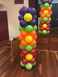 Dora The Explorer Flower Balloon Columns
