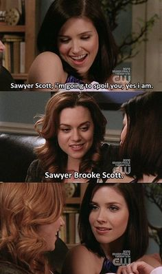 Sophia Bush (Brooke Davis-Baker) Hilarie Burton (Peyton Sawyer-Scott) - One Tree Hill Best Tv Shows, Best Shows Ever, Favorite Tv Shows, Favorite Things, Tv Show Quotes, Movie Quotes, Life Quotes, Lucas And Peyton, Nathan Haley