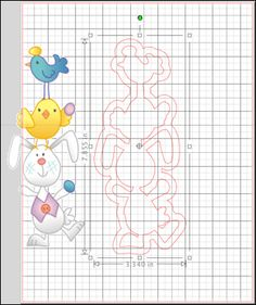 Easter Card Using Silhouette Trace & Detach