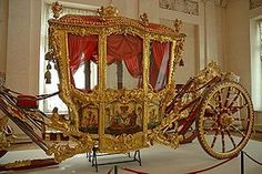 Catherine the Great's carved, painted and gilded Coronation Coach. (Hermitage Museum)