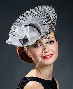 Black and white stunning hat for Ascot Derby by MargeIilane