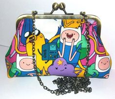 ADVENTURE TIME FINN JAKE BMO HANDMADE HANDBAG CLUTCH PROM PARTY geek boutique