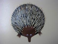 Paper Plate Aussie's. Echidna. Australia For Kids, Australia Animals, Primary School Art, Art School, Possum Magic, Baby Artwork, Native Australians, Arts And Crafts, Paper Crafts