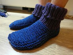 Nola's slipper pattern. Sized to adult male. Similar to the baby Uggs that I made!