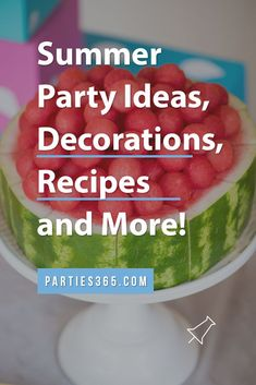 Ready to throw a fabulous party this summer but need ideas for your celebration? Check out these festive parties for summer party themes, decorations, recipes, food and more! Summer Party Themes, Adult Party Themes, Summer Parties, Party Ideas, Party Drinks, Cocktails, Kids Party Tables, Food Ideas, Decor Ideas