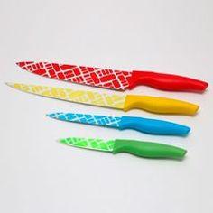Kit 4 Facas de Cozinha Coloridas - Bon Gourmet