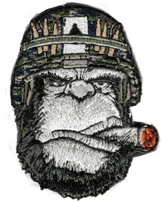 Tactical Mad Gorilla Camo Ace Helmet hook & loop Patch