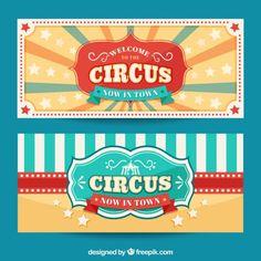 Baixe Backgorund Circus No Estilo Do Vintage gratuitamente Carnival Show, Circus Carnival Party, Circus Theme Party, Circus Birthday, Carnival Games, Party Themes, Party Ideas, Circus Tickets, Circus Illustration