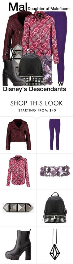 """""""Disney's Descendants"""" by wearwhatyouwatch ❤ liked on Polyvore featuring Kookaï, M Missoni, Just Cavalli, Valentino, MICHAEL Michael Kors, Charlotte Russe, Stephanie Bates, women's clothing, women and female"""
