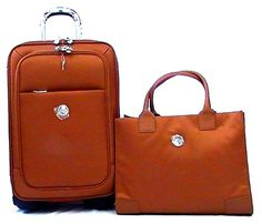 Luggage Tags Collections | JOY TuffTech Luggage with Tote Ensemble with Revolutionary SpinBall Wheels  Cognac >>> Find out more about the great product at the image link. Note:It is Affiliate Link to Amazon. #likeall