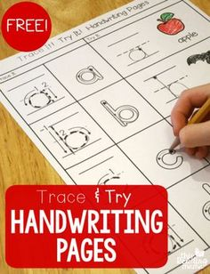 FREE Trace and Try Handwriting Pages