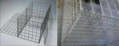 strengthening the walls of the gabion
