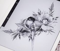 Ideas tattoo flower bird artists for 2019 Mini Tattoos, Trendy Tattoos, Unique Tattoos, Beautiful Tattoos, New Tattoos, Body Art Tattoos, Small Tattoos, Tatoos, Tattoo Femeninos
