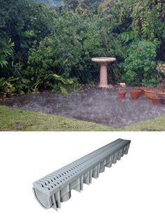 6 Smart Ways to Prevent a Soggy Yard with Every Rain Shower Clear water from flooded patios and w Backyard Drainage, Landscape Drainage, Rain Garden, Garden Paths, Bog Garden, Garden Edging, Drainage Solutions, Drainage Ideas, Water Solutions