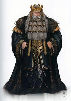 Thrór concept art from the Weta's Hobbit Chronicles