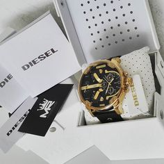 DIESEL   @MyRich.de #diesel #dieselwatch #watch #style #uhr #trend #life #chronograph #lifestyle #brand #market #luxus #juwelry #luxury #unisex #fashion #time #timezone #special #leather #big #bigwatch #xxl #herren #gun #black #gold #men #marketing #accessories