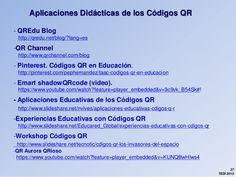 Aplicaciones Didácticas de los códigos QR