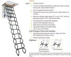 Fakro Metal Scissor Attic Ladder Ceiling Height 7 ft. 6 in. to 10 ft. 10 in.