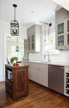 Small kitchen with island - 24 elegant kitchen solutions