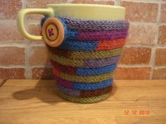 I cord mug original source  http://www.instructables.com/id/I-cord-easy-mug-cosy/step4/Almost-the-end/