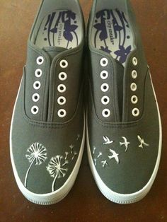 Hand Painted Shoes :) Someone wanna draw this on a pair of my shoes? :)