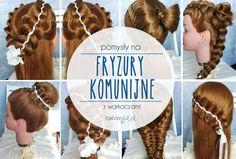 fryzury komunijne- inspiracje #fryzury #komunijne #komunia #warkocze