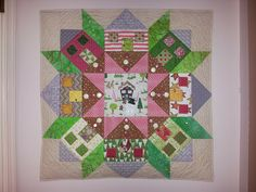 Christmas version of Swoon Town pattern, by Robin's Fabric Nest