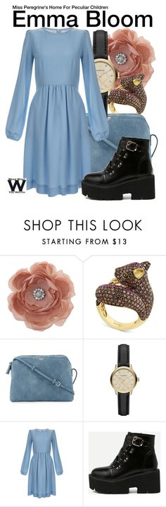 """Miss Peregrine's Home For Peculiar Children"" by wearwhatyouwatch ❤ liked on Polyvore featuring Miss Selfridge, Effy Jewelry, The Row, Burberry, Goat, television and wearwhatyouwatch"