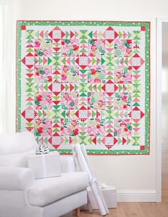 Simply Modern Christmas quilt by Cindy Lammon