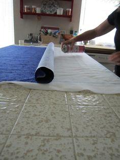 Plain Ol' Vanilla: Spray Basting a Quilt...I've Changed My Mind