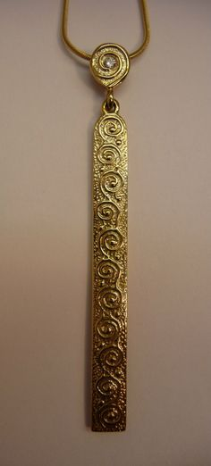 Pendentif Chaine Diamant Rysa Jaune OR 9ct Bijou OLA Gorie
