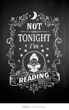 "January 15th: ""Not tonight, I'm reading."""