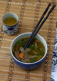 sopa de setas y solomillo- mushroom soup