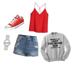 """Untitled #4"" by victoriaam99 ❤ liked on Polyvore featuring MANGO, Pieces, Converse and Avenue"